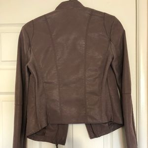 Free People Jackets & Coats - Free People - Purple Leather Suede Jacket